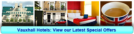 Vauxhall Hotels: Book from only £19.67 per person!