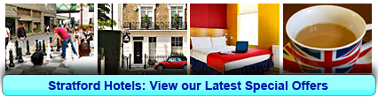 Stratford Hotels: Book from only £13.83 per person!