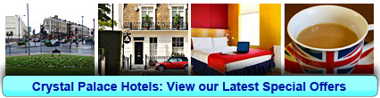 Crystal Palace Hotels: Book from only £9.00 per person!