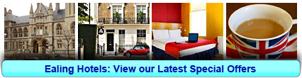 Ealing Hotels: Book from only £13.75 per person!