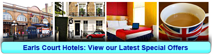 Earls Court Hotels: Book from only £12.00 per person!