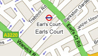 Map of Earls Court, London