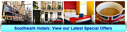 Southwark Hotels: Book from only £15.00 per person!
