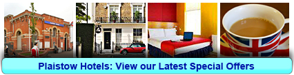Plaistow Hotels: Book from only £13.06 per person!