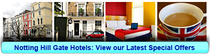 Notting Hill Gate Hotels: Book from only £17.50 per person!