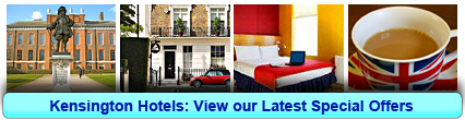 Kensington Hotels: Book from only £16.00 per person!