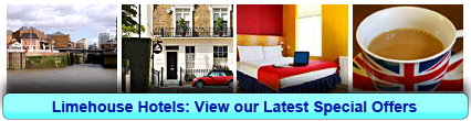 Limehouse Hotels: Book from only £21.25 per person!