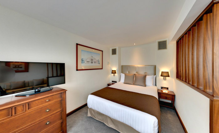 A double room at Melia White House Apartments