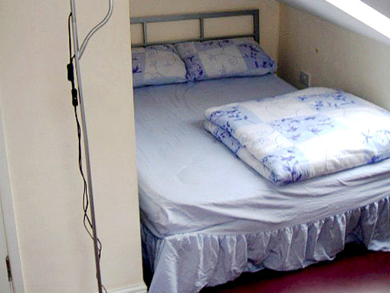 A typical room at Westfield Hostel