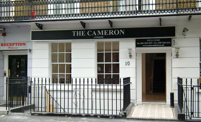 The exterior of Cameron Hotel London
