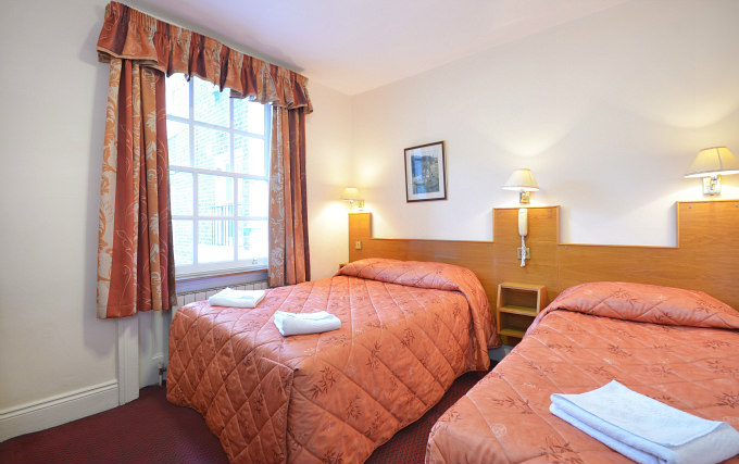 A typical triple room at Viking Hotel London
