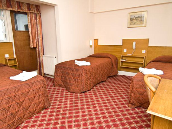 Quad rooms at Alexandra Hotel are the ideal choice for groups of friends or families