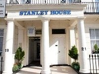 The entrance to Stanley House Hotel