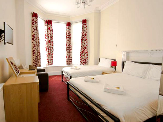 Triple rooms at Royal Guest House are the ideal choice for groups of friends or families