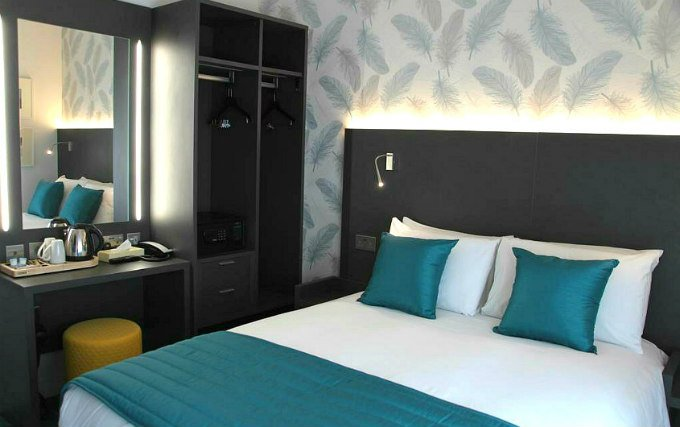 A comfortable double room at K Hotel Kensington