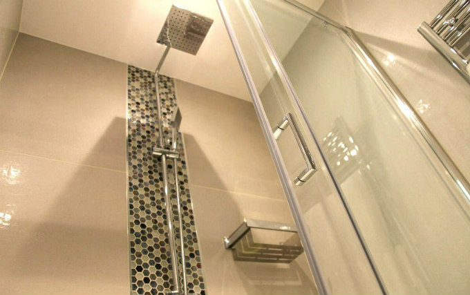 A typical shower system at K Hotel Kensington
