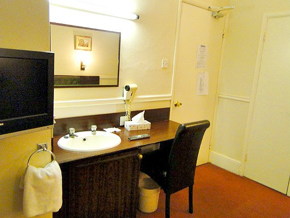 Rooms are simple but clean at Hallam Hotel London