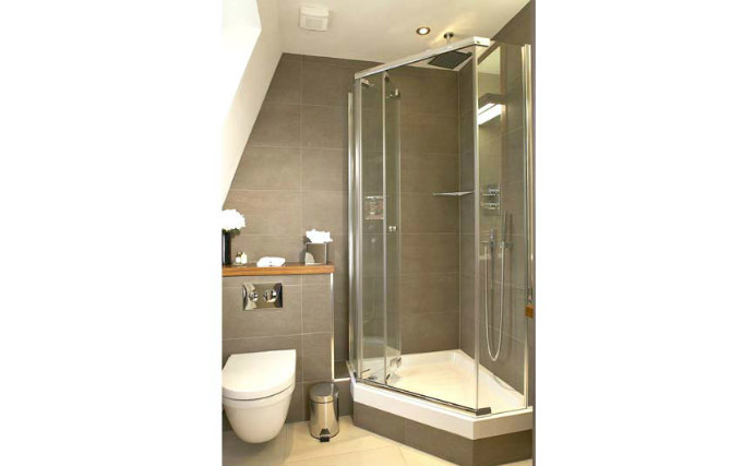 A typical shower system at Maitrise Hotel London Maida Vale