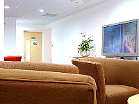 The shared Lounge at Grosvenor House Studios is a great place for watching TV or socialising