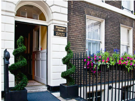 The Staunton Hotel London's welcoming entrance