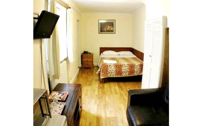 A double room at Ventures Hotel