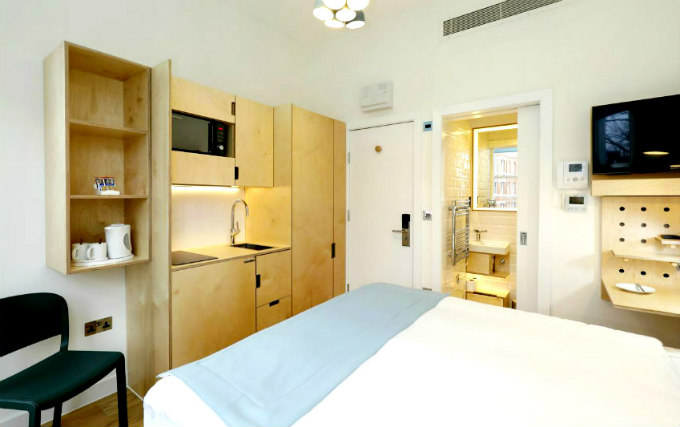A typical double room at Philbeach Studios