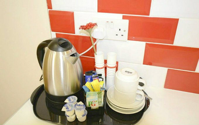 Enjoy a reviving hot drink in your room.