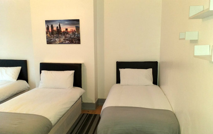 A typical triple room at Croydon Rooms