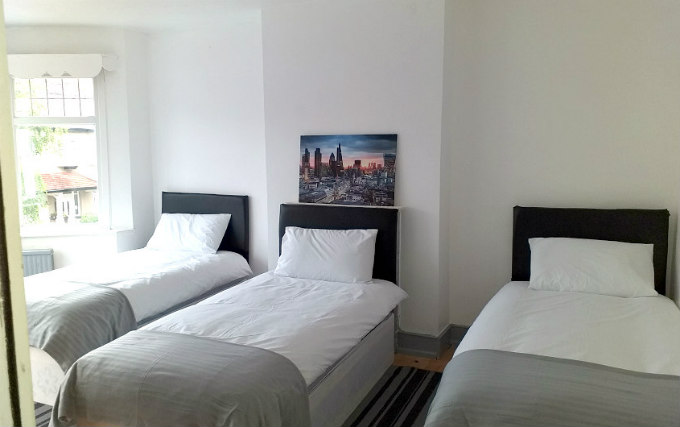 A triple room at Croydon Rooms