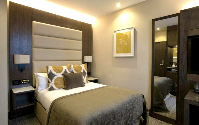 A comfortable double room at The Kings Head Hotel Acton