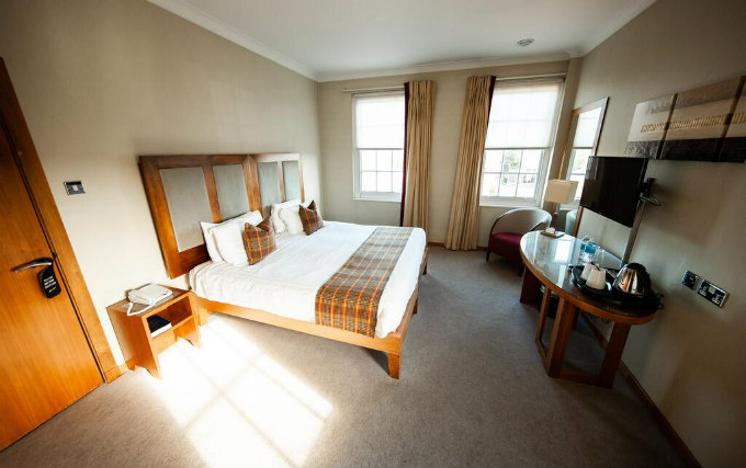 A typical double room at Berwick Manor Hotel