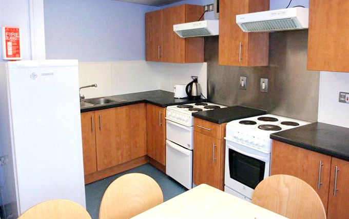 kitchen at Ifor Evans Hall