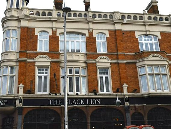 An exterior view of Black Lion Guesthouse London