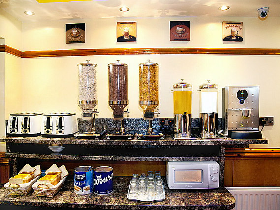 Get your day off to a great start with a continental breakfast