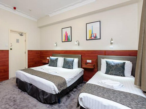 Triple rooms at Wardonia Hotel are the ideal choice for groups of friends or families