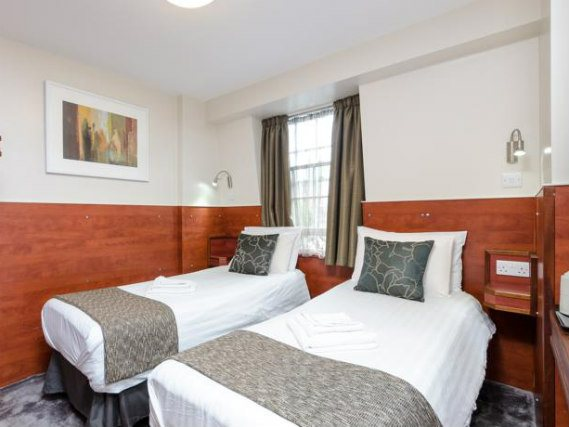 A twin room at Wardonia Hotel is perfect for two guests