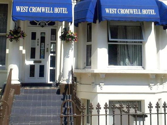 The West Cromwell Hotel's welcoming entrance
