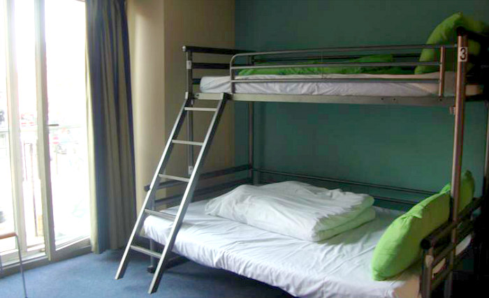 A typical dorm room at YHA London - St Pancras