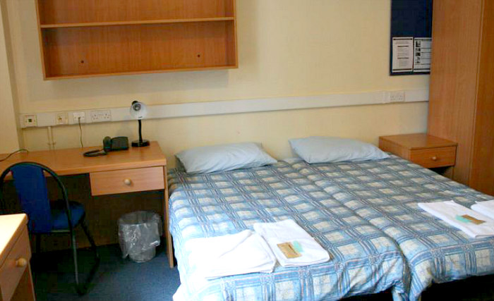 One of the twin rooms at Bankside House