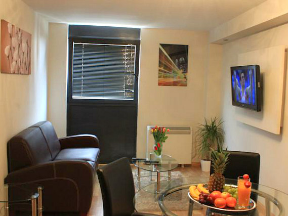 Relax after a hard day's sightseeing in the comfy living space at So London Apartments