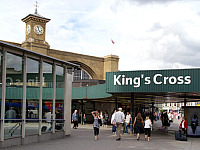 Kings Cross Station is opposite the hotel