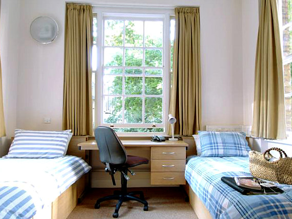 A twin room at Passfield Hall is perfect for a two guests
