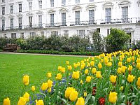 The attractive gardens and exterior of The Warwick Hotel London