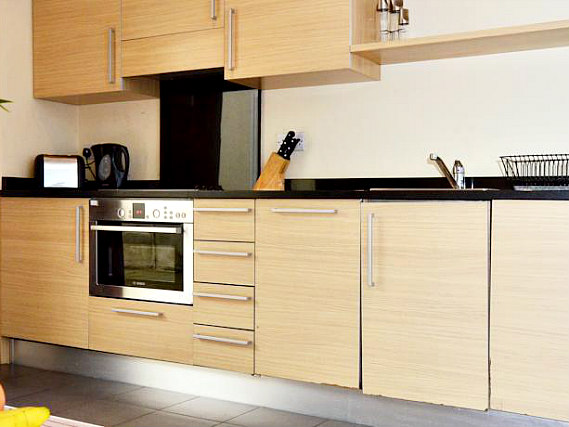 Save even more money by preparing your own food in the self-catering kitchen at So London Luxury Apartments