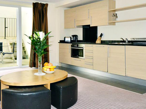 kitchen at So London Luxury Apartments