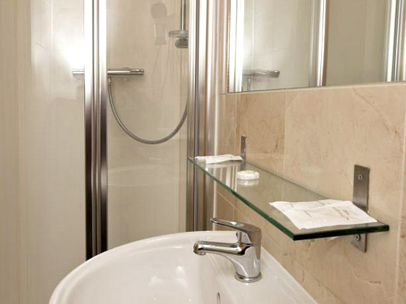 A typical shower system at 146 Suites Gloucester Place