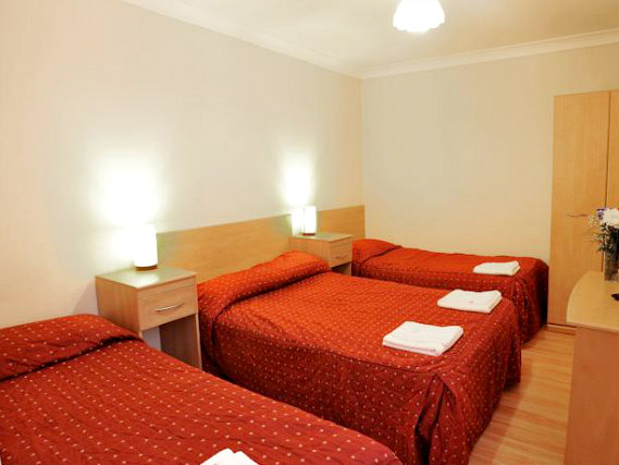 Quad rooms at Elmwood Hotel are the ideal choice for groups of friends or families