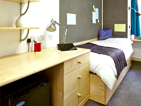 Single rooms at Sir John Cass Hall provide privacy