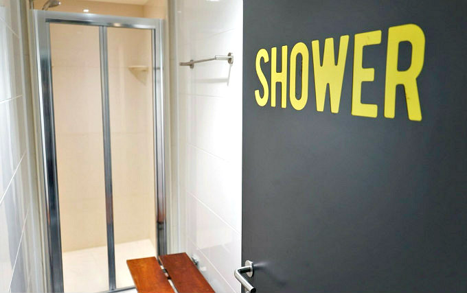 A typical shower system at Sir John Cass Hall