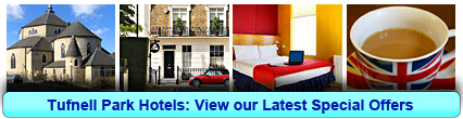 Tufnell Park Hotels: Book from only £18.00 per person!